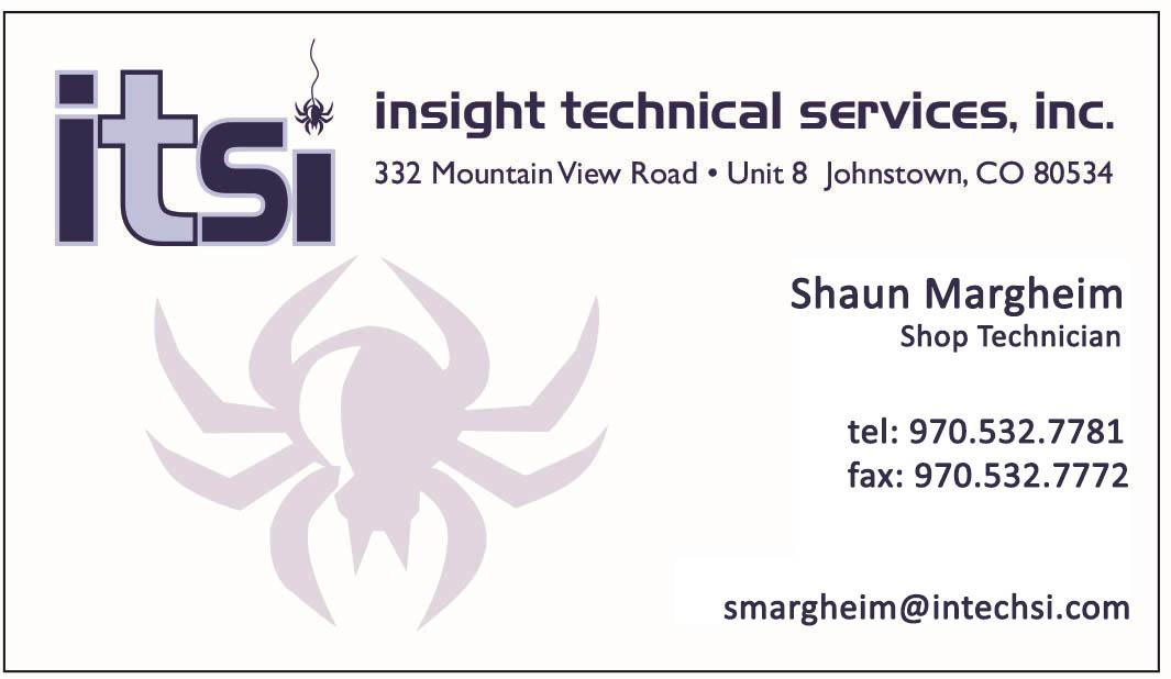 Shaun Margheim - Shop Technician